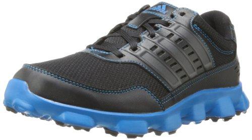 adidas Men's Crossflex Sport Golf Shoe,Black/Black/Solar Blue,11 M US