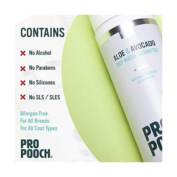 Pro Pooch Dry Shampoo For Dogs (200 ml) Quick Drying Waterless No Rinse Mousse. 4