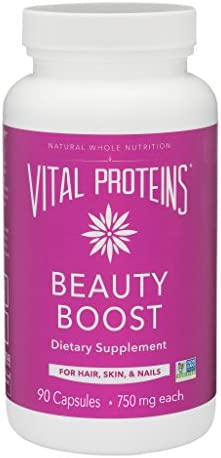 Vital Proteins Biotin Capsule Supplement – 1500mcg of Biotin per Serving 500 DV , Hair Skin Nail Support*, Boost Collagen Synthesis, Gluten-Free