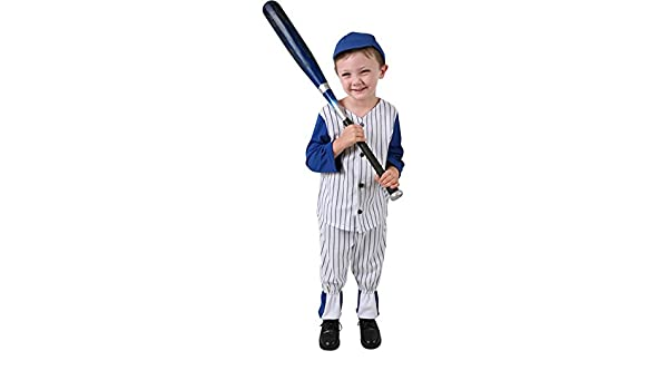 Amazon.com: Child\'s Boy\'s Baseball Costume (Size:Small 6-8): Toys ...