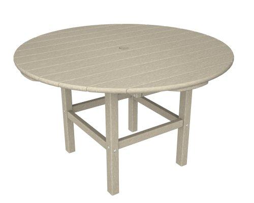 "Price comparison product image POLYWOOD RKT38SA 38"" Kids Dining Table,  Sand"
