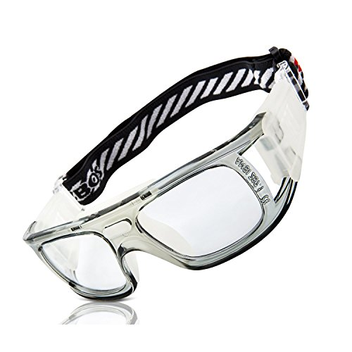 bc5b2404f9dd RIVBOS 1813 Safety Sports Glasses Protective Sports Goggles with Strap and Portable  Case for Basketball Football Hockey Rugby Baseball Soccer Suitable for ...