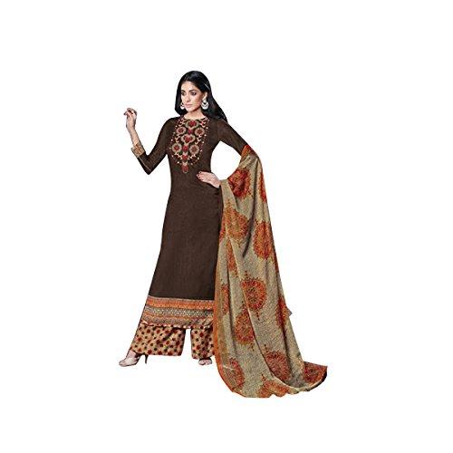 d9c538b375 SHRI BALAJI SILK & COTTON SAREE EMPORIUM Indian Pakistani Designer Pashmina  Straight Salwar Kameez Suit Dupatta