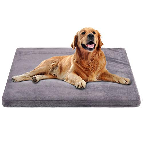 Large Dog Bed Crate Mat Bed Orthopedic Foam Dog Beds Mattress Washable with Non-Slip Cover