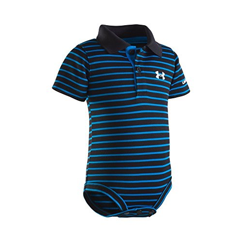 Under Armour Baby-Boys Newborn Polo Yarn Dye. Bodysuit, Black, 3-6 Months