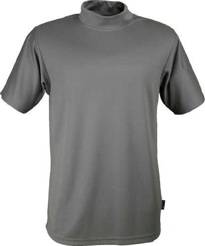 Colorado Timberline Dillon Microfiber Mock T Shirt Pewter Large