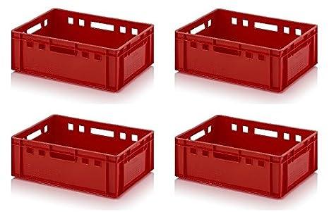 4 x Caja de carne E2 60 x 40 x 20 Metzger Caja Euro Carne Caja ...