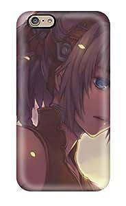 Flexible Tpu Back Case Cover For Iphone 6 - Blue Artwork Braids Whitemidori Foo