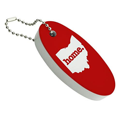 GRAPHICS & MORE Ohio OH Home State Solid Red Officially Licensed Floating Foam Keychain Fishing Boat Buoy Key Float