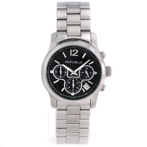 Republic Womens Stainless Steel Chronograph Watch