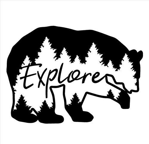 suuyar Explore Bear Wall Decal Viaje Montañas Mural Bosque Tema Niños Habitación Decoración Naturaleza Cerveza Etiqueta...