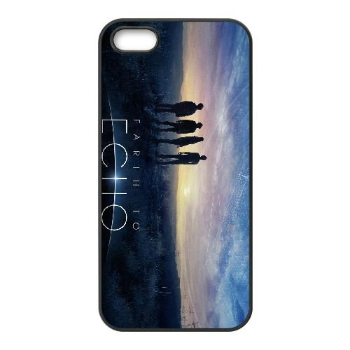 Earth To Echo coque iPhone 4 4S cellulaire cas coque de téléphone cas téléphone cellulaire noir couvercle EEEXLKNBC24753