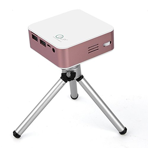 Price comparison product image Noyazu Bluetooth Wireless Mini Android Projector Beamer (Rose Gold)
