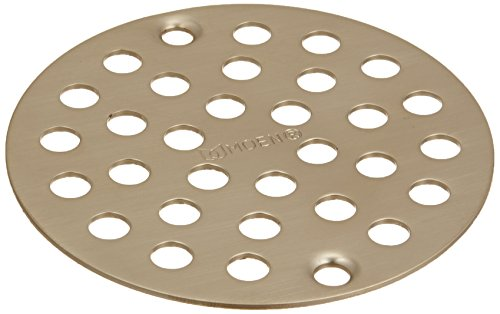 MOEN 102763BN Collection 4-Inch Screw-In Shower Strainer Drain Cover, Brushed Nickel ()