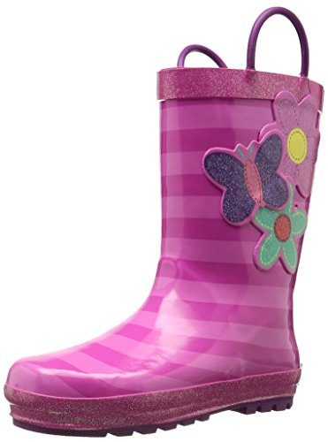Western Chief Kids Kids Girls' Waterproof Easy-On Printed Rain Boot, Blossom Cutie, 5 M US Toddler -