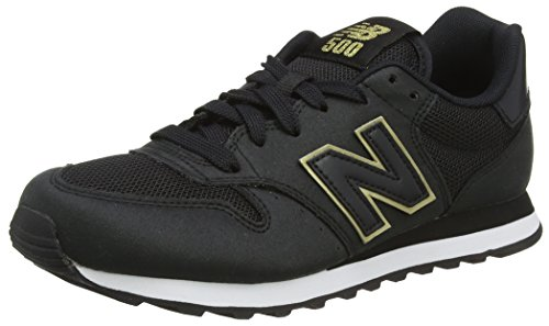 Donna New Balance black gold Sneaker Nero 500 wCgCFqS
