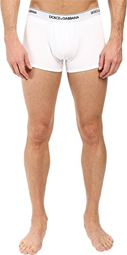 Dolce & Gabbana Men's Regular Boxer 2-Pack Optical White - Men Clothes Gabbana Dolce For And