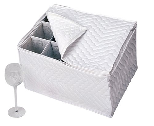 Richards Homewares Vinyl Stemware Chest-White by Richards Homewares