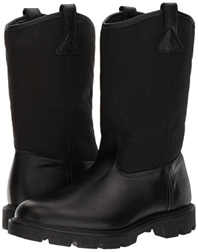 Rocky Men's Men's 10 Inch Pull-on 6300 Work Boot,Black,10.5 XW US by Rocky (Image #6)