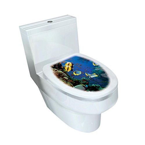 Mixed Designs Toilet Stool Commode Stickers( 32×39CM),Tuscom Wc Pedestal Pan Cover Sticker (Style: C)