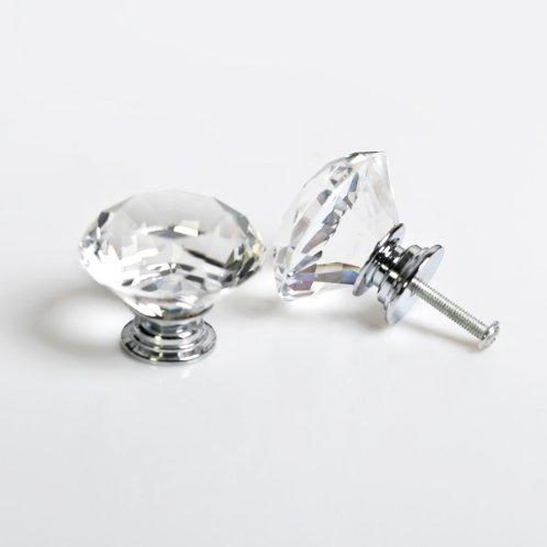 Yuyikes table de chevet pour chambre /à coucher dressing - 40 mm etc commode Lot de 8 poign/ées de meubles en forme de diamant coffre de rangement
