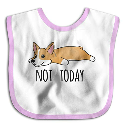Not Today Corgi Junior Bib Baby Skin Wrap For Babies