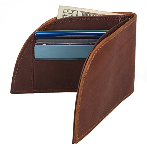 Front Pocket Leather - Rogue Wallets Bison Wallet - RFID (Brown)