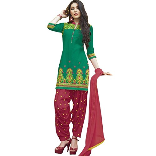 Ready To Wear Patiala Salwar Embroidered Cotton Salwar Kameez Suit