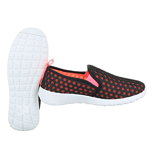 Nero corallo design Pantofole Ital Donna w1qpXxH
