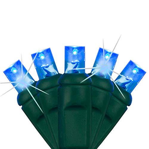 SoftTwinkle Slow Twinkling Christmas Lights, Soft Twinkle String Lights Pulsing Christmas Lights (50 Lights, 17 Ft, Blue)