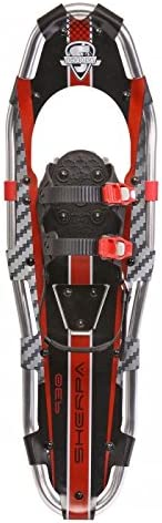 Yukon Charlie s Sherpa Series Snowshoe – up to 200lbs – Red Black