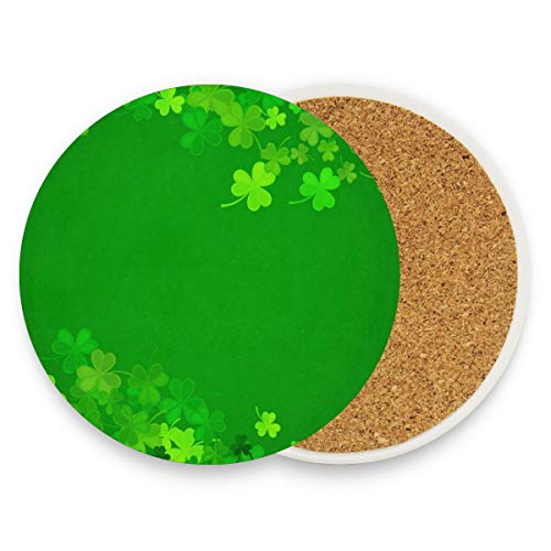 Lovely Clover Leaf Coasters, Prevent Furniture From Dirty And Scratched, Round Wood Coasters Set Suitable For Kinds Of Mugs And Cups, Living Room Decorations Gift 1 Piece -