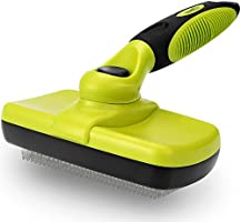 Dog Brush,Self Cleaning Pet Cat Brush for Grooming, Removes 90% of Dead Undercoat, Suitable for Medium and long Hair