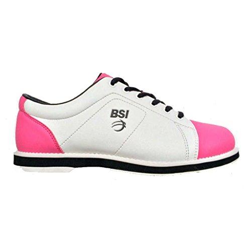 Bsi Womens 653 Classic Bowling Shoes Bianco / Rosa / Nero