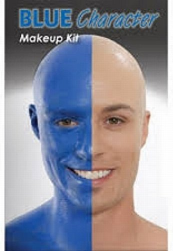 The Blue Man Group Costume (Deluxe Blue Man Group Complete Makeup Kit- Theatrical Quality)