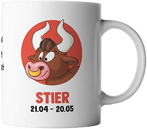 ghostee taza de café - Horóscopo Estrella de Signo zodiacal Tauro 21.04. - 20.05. Cómico alemán, Marca:Colorido: Amazon.es: Hogar