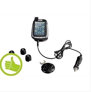 Spy Sensores de presión de neumáticos TPMS para Coches o Mini caravanas con 4 sensores externos presión máxima 3.5 Bares: Amazon.es: Electrónica
