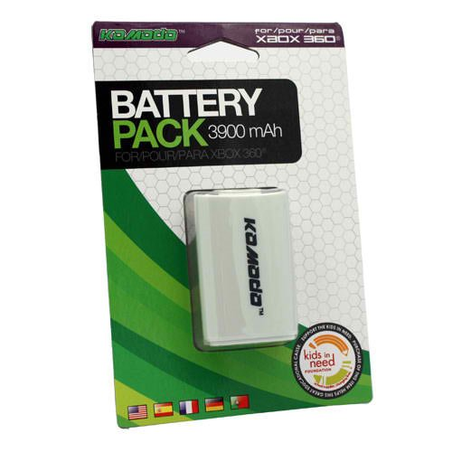 KMD 360 Rechargeable Battery Pack White Komodo - Xbox 360