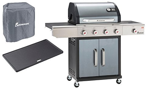Gasgrill Barbecue of the Champion PTS 4.1 Anthrazit Gratis dazu Schutzhülle + Grillplatte
