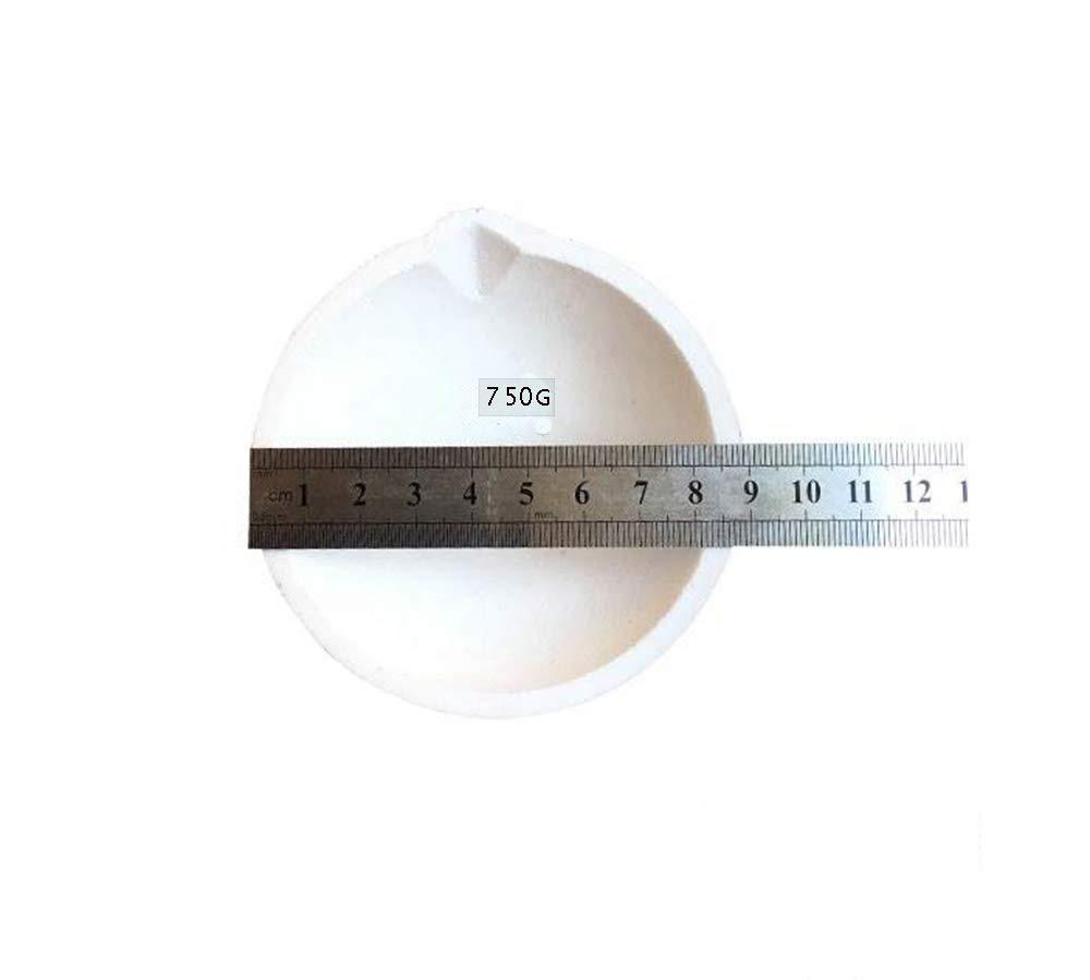 150g LTKJ 2pcs High Temperature Quartz Silica Melting Crucible Dish Bowl Pot Casting for Gold Silver Platinum