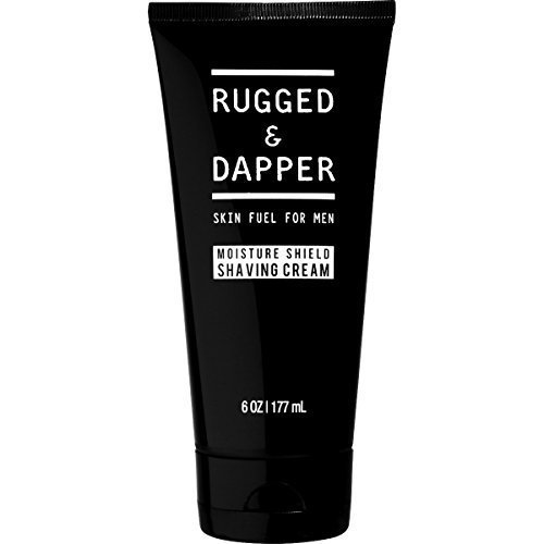 RUGGED & DAPPER – Shaving Cream for Men – 6 oz – Professional Barber Quality for a Close Shave without Razor Burn – Natural, Vegan & Gluten Free Ingredients - Great for Sensitive Faces & Skin