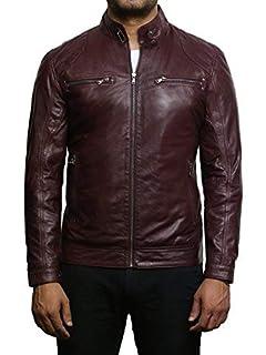 Coofandy Blouson Cuir Homme Moto Motard Hiver Casual Noir Taille S ... 837630b6a28