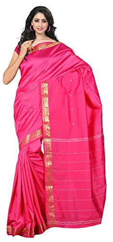 Saree Magenta - KoC Indian Traditional Ethnic Women wear Art Silk Saree -Magenta