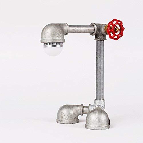 ZHANG NAN ●  Vintage Industrial Steampunk Tischlampe 1 Licht Wasserpfeife rustikale Nachttischlampe ●