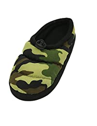 Home Slipper Unisex Boy's Girl's Indoor House Non-Slip Camouflage Camo Print Slippers Shoes