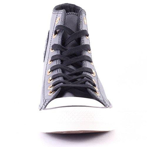 Converse Ct Core Lea Hi - Zapatillas de piel de cerdo unisex Negro