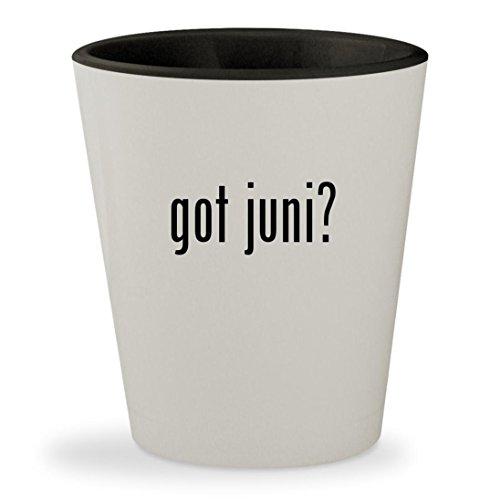 Junie B Jones Costumes (got juni? - White Outer & Black Inner Ceramic 1.5oz Shot Glass)