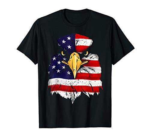 Bald Eagle American Flag 4th of July Patriotic Freedom USA T-Shirt ()