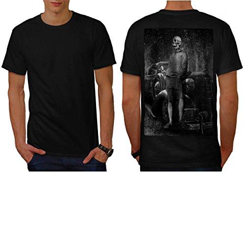 [Skull Costume Body Zombie Art Men NEW S T-shirt Back | Wellcoda] (Pregnant Basketball Costume)