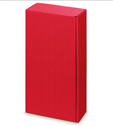 Weinkarton24.com 10 x Caja de cartón, Copas de Vino, Botella del Paquete cartón (2 Botellas) – dekowell de PV Rojo: Amazon.es: Juguetes y juegos